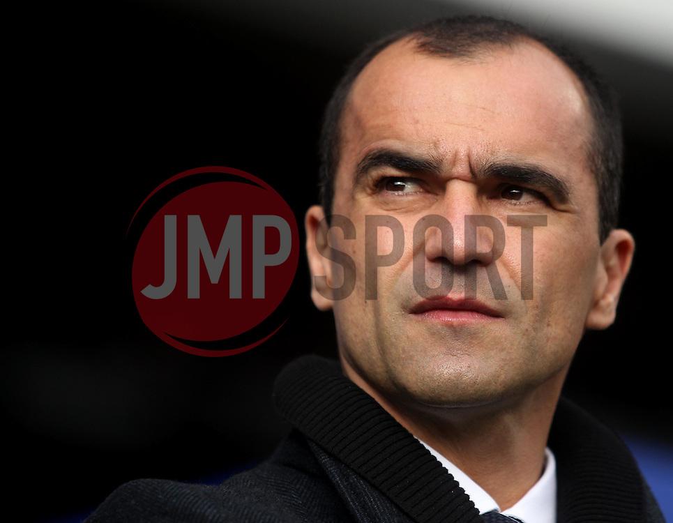 Everton Manager, Roberto Martinez - Photo mandatory by-line: Robbie Stephenson/JMP - Mobile: 07966 386802 - 22/03/2015 - SPORT - Football - London - Loftus Road - Queens Park Rangers v Everton - Barclays Premier League