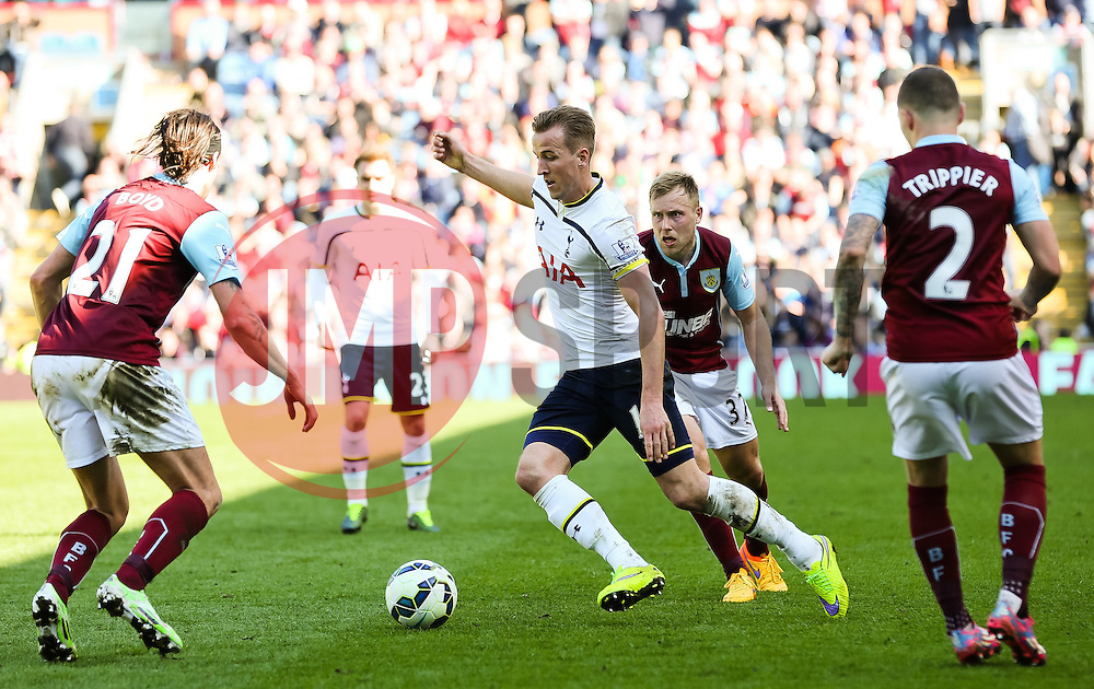 Tottenham Hotspur Captain Harry Kane in action  - Photo mandatory by-line: Matt McNulty/JMP - Mobile: 07966 386802 - 05/04/2015 - SPORT - Football - Burnley - Turf Moor - Burnley v Tottenham Hotspur - Barclays Premier League