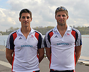 Caversham, Great Britain. GBR M2X.  left; Sam TOWNSEND and Bill LUCAS 2012 GB Rowing World Cup Team Announcement Wednesday  04/04/2012  [Mandatory Credit; Peter Spurrier/Intersport-images]