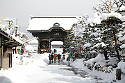 entrance gate at the Zenko-ji temple Nagano Japan