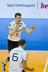09.01.2016, Max Schmeling Halle, Berlin, GER, CEV Olympia Qualifikation, Deutschland vs Russland, im Bild Lukas Immanuel Kampa (#11, GER) // during 2016 CEV Volleyball European Olympic Qualification Match between Germany and Russia at the Max Schmeling Halle in Berlin, Germany on 2016/01/09. EXPA Pictures © 2016, PhotoCredit: EXPA/ Eibner-Pressefoto/ Wuechner<br /> <br /> *****ATTENTION - OUT of GER*****