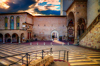 """Waiting for the visitation of St. Francis with Grace - Papal Basilica of St. Francis of Assisi"" ..."