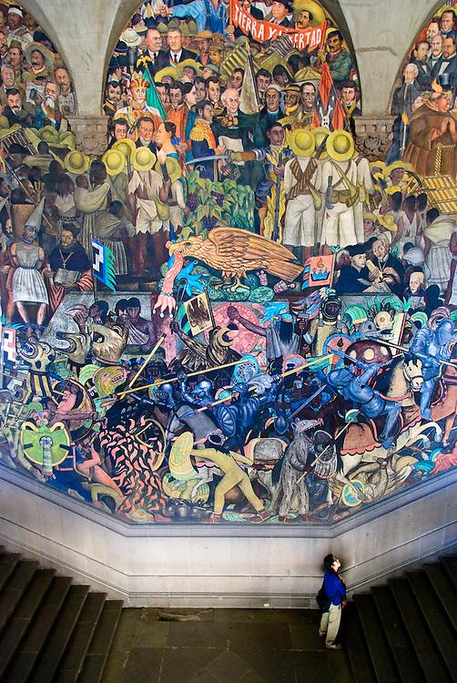 Murals Placio National Mexico City