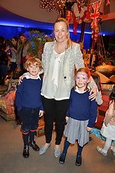 ASTRID HARBORD with her cousins twins RORY & BEATRICE CALVOCORESSI at Never Land Children's Party at the Bulgari Hotel, 171 Knightsbridge, London on 26th April 2016.