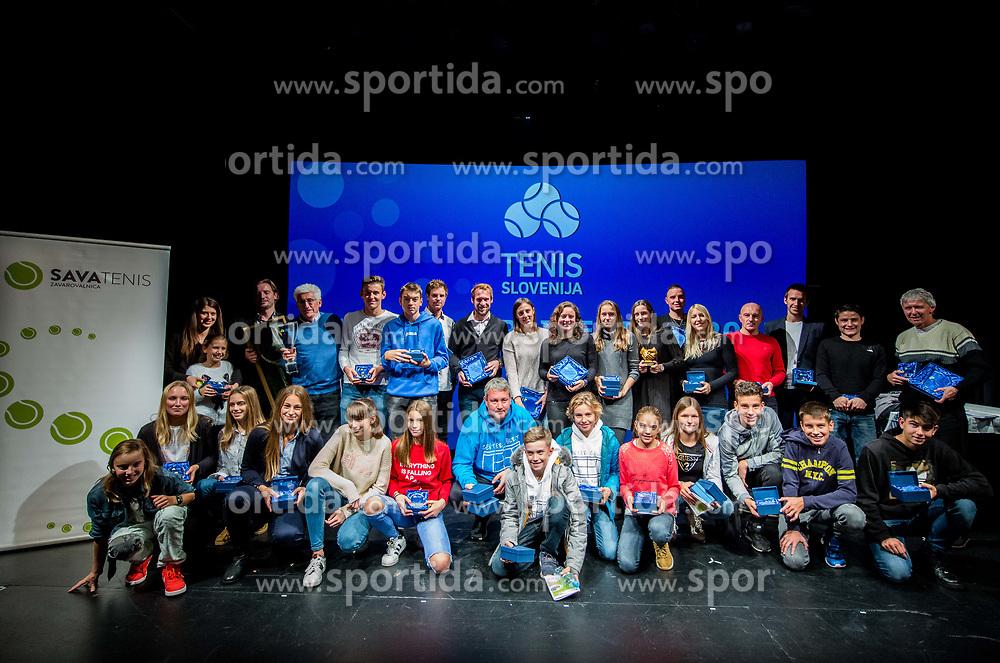 Athletes during Slovenian Tennis personality of the year 2017 annual awards presented by Slovene Tennis Association Tenis Slovenija, on November 29, 2017 in Siti Teater, Ljubljana, Slovenia. Photo by Vid Ponikvar / Sportida