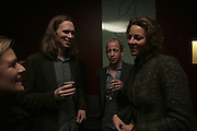 MICHAEL BIRCH, ZIV NAVOTH AND ALEXANDRA  WOODWARD, Launch of Ziv Navoth's book Ð Nanotales. The Groucho Club, London. 22 February 2007. t -DO NOT ARCHIVE-© Copyright Photograph by Dafydd Jones. 248 Clapham Rd. London SW9 0PZ. Tel 0207 820 0771. www.dafjones.com.
