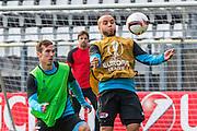 ALKMAAR - 15-02-2017, AZ - Olympique Lyon, AFAS Stadion, training, AZ speler Stijn Wuytens, AZ speler Iliass Bel Hassani