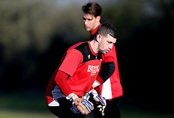 Frank Fielding of Bristol City and Fabian Giefer of Bristol City take part in training - Mandatory by-line: Robbie Stephenson/JMP - 19/01/2017 - FOOTBALL - Bristol City Training Ground - Bristol, England - Bristol City Training