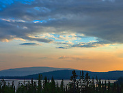Midway Lake in the Tetlin NWR at sundown.  The glow is caused by smoke from wildfires south west of Fairbanks and north of us.  Tok, Alaska.  USA