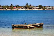 Boat in Bariay, Holguin, Cuba.