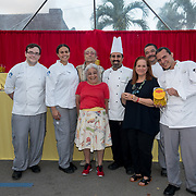 FEBRUARY 10, 2018---MIAMI, FLORIDA<br /> The Maggic Banquet, a multifaceted participatory project centered on food by internationally-celebrated, Miami-based artist Miralda (Antoni Miralda) in collaboration with Chef Jose Casals and students from the Miami Culinary Institute at MDC and EXILE Books. The Maggic Banquet  at EXILE Books in Little Haiti.<br /> (PHOTO BY ANGEL VALENTIN for MDC