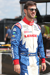 September 30, 2018 - Charlotte, NC, U.S. - CHARLOTTE, NC - SEPTEMBER 30:  #19: Daniel Suarez, Joe Gibbs Racing, Toyota Camry Lenox before the Monster Energy NASCAR Cup Series Playoff Race Bank of America ROVAL 400 on September 30, 2018, at Charlotte Motor Speedway in Concord, NC. (Photo by Jaylynn Nash/Icon Sportswire) (Credit Image: © Jaylynn Nash/Icon SMI via ZUMA Press)