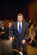 Microsoft founder and CEO, Bill Gates during the second day of the Joint Economic Committee National Summit on High Technology meeting June 15, 1999 in Washington, DC. The committee is discussing the effects of technology on the economy.