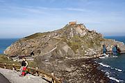 San Juan de Gaztelugatze island near Bermeo.