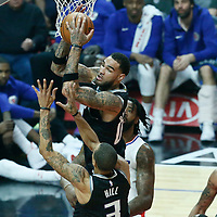 26 December 2017: Sacramento Kings center Willie Cauley-Stein (00) grabs a rebound during the LA Clippers 122-95 victory over the Sacramento Kings, at the Staples Center, Los Angeles, California, USA.