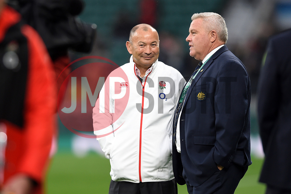 England Rugby Head Coach Eddie Jones looks on during the pre-match warm-up - Mandatory byline: Patrick Khachfe/JMP - 07966 386802 - 18/11/2017 - RUGBY UNION - Twickenham Stadium - London, England - England v Australia - Old Mutual Wealth Series International