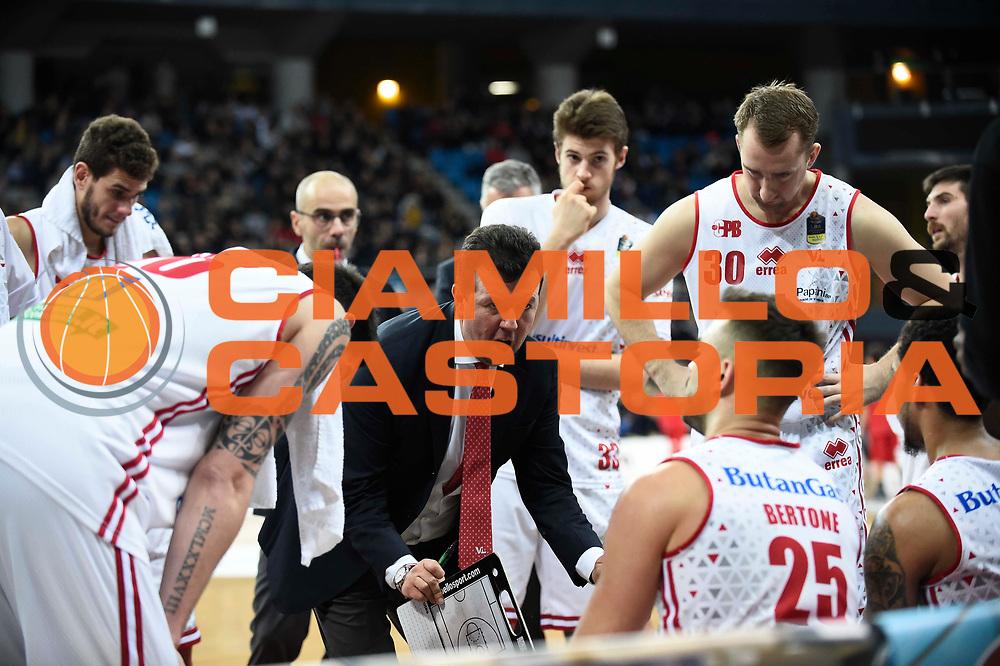 Leka Spiro<br /> Victoria Libertas Pesaro - EA7 Emporio Armani Milano<br /> Lega Basket Serie A 2017/2018<br /> Reggio Emilia, 16/12/2017<br /> Foto A.Giberti / Ciamillo - Castoria