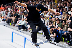 May 20, 2018 - Oslo, NORWAY - 180520 Kelvin Hoefler of Brazil competes in the men's street skateboard finals during X Games Norway on May 20, 2018 in Oslo.Photo: Fredrik Varfjell / BILDBYRÃ…N / kod FV / 150099 (Credit Image: © Fredrik Varfjell/Bildbyran via ZUMA Press)