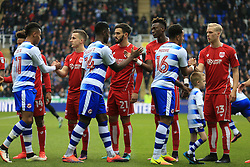 Bristol City and Reading shake hands at the start of the match - Mandatory by-line: Jason Brown/JMP - 26/11/2016 - FOOTBALL - Madejski Stadium - Reading, England - Reading v Bristol City - Sky Bet Championship