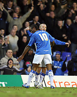 Photo: Rich Eaton.<br /> <br /> Birmingham City v Preston North End. Coca Cola Championship. 09/12/2006. Gary McSheffrey of Birmingham City (facing camera) is congratulated by Cameron Jerome after scoring his second goal of the first half