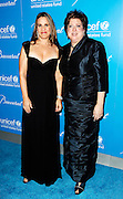 Claudia Lebenthal and Caryl Stern pose at the 2009 UNICEF Snowflake Ball Arrivals in New York City on December 2, 2009.