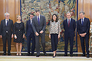 King Felipe VI of Spain, Queen Letizia of Spain attends an audience with the Board of Directors of Atresmedia at Zarzuela Palace on February 25, 2020 in Madrid, Spain