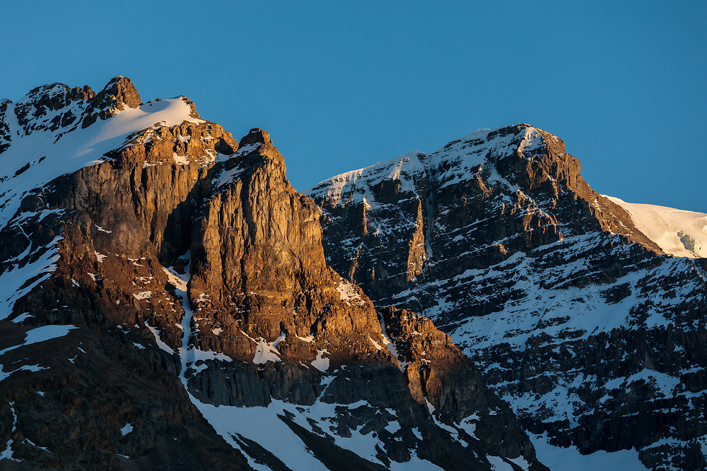 The A-Strain on Mt Andromeda, Columbia Icefields, Alberta, Canada