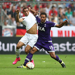 04.08.2015, Allianz Arena, Muenchen, GER, AUDI CUP, Real Madrid vs Tottenham Hotspur, im Bild Moussa Dembele (Tottenham Hotspur #19) im Zweikampf gegen Danilo (Real Madrid CF #23) // during the 2015 Audi Cup Match between Real Madrid and Tottenham Hotspur at the Allianz Arena in Muenchen, Germany on 2015/08/04. EXPA Pictures © 2015, PhotoCredit: EXPA/ Eibner-Pressefoto/ Schüler<br /> <br /> *****ATTENTION - OUT of GER*****