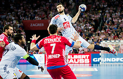 Nadim Remili of France during handball match between National teams of Croatia and France on Day 7 in Main Round of Men's EHF EURO 2018, on January 24, 2018 in Arena Zagreb, Zagreb, Croatia.  Photo by Vid Ponikvar / Sportida