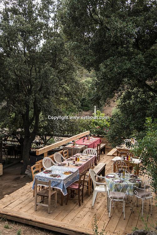Corsica south  San Pultru farm and countryside restaurant near Sartene   France    /   ferme de san pultru pres de Sartene Corse du sud  France
