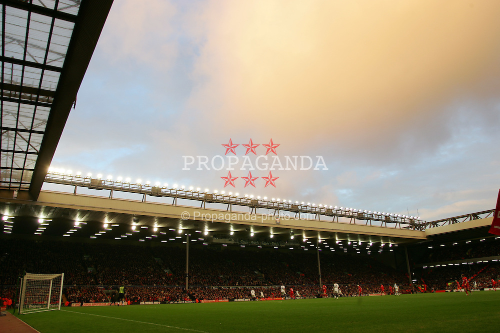 LIVERPOOL, ENGLAND - SATURDAY FEBRUARY 5th 2005: A general view of Liverpool's Anfield stadium during the Premiership match against Fulham. (Pic by David Rawcliffe/Propaganda)\