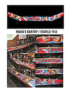 MAKO'S - Custom Tile Bar Top