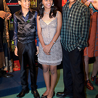 MACAU, CHINA - JUNE 11:  Indian child stars of Slumdog Millionaire Tanay Chheda (C), Tanvi Ganesh Lonkar (C) and Ashutosh Lobo Gajiwala pose at the green carpet during the 2009 International Indian Film Academy Awards at the Venetian Macao-Hotel-Resort on June 11, 2009 in Macau.  Photo by Victor Fraile / studioEAST