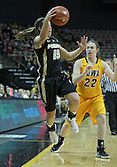 January 28, 2012: Purdue Boilermakers guard Courtney Moses (15) saves a ball from going out of bounds as Iowa Hawkeyes guard Samantha Logic (22) looks on during the NCAA women's basketball game between the Purdue Boilermakers and the Iowa Hawkeyes at Carver-Hawkeye Arena in Iowa City, Iowa on Saturday, January 28, 2012.