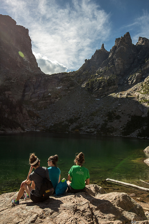 Girls at Emerald Lake, Rocky Mountain National Park