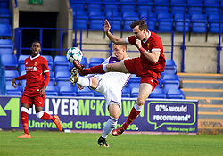 BIRKENHEAD, ENGLAND - Wednesday, November 1, 2017: Liverpool's Liam Millar and NK Maribor's Sandi Ogrinec during the UEFA Youth League Group E match between Liverpool and NK Maribor at Prenton Park. (Pic by David Rawcliffe/Propaganda)