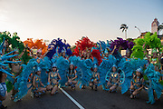 Feather clad dancers gather for a group photo. The Dream Parade is an annual arts carnival and street parade that takes place in Taipei. The event is the brainchild of real estate developer Gordon Tsai who founded the Dream Community after being inspired by simialr events in other parts of the world.