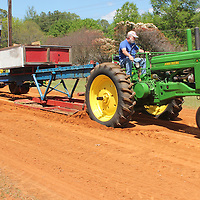 (Floyd Ingram / Buy at photos.chickasawjournal.com)<br /> The big tractors dug in to pull the sled at the Houston Flywheel Festival Spring Show at Joe Brigance Park Saturday afternoon.