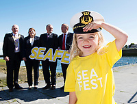 Repro Free: The Minister for Agriculture, Food and the Marine, Michael Creed, TD, has officially launched SeaFest, Ireland&rsquo;s national maritime festival, which will be held in Galway from 30th June to 2nd July. <br /> But Andrea Ni Fhlartha from Barna Stole the Show. Photo:Andrew Downes, xposure