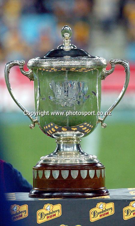 26th July, 2003. Telstra Stadium, Sydney, Australia. Bledisloe Cup. All Blacks v Wallabies.<br />Bledisloe Cup trophy<br />Pic: Andrew Cornaga/Photosport