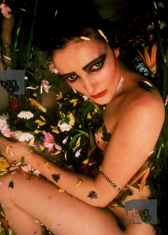 Siouxsie Sioux and Budgie - Creatures bathroom photosession