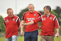 Ballyhaunis manager Tomas Morley centre with selectors John Collins and John Prenty.<br /> Pic Conor McKeown