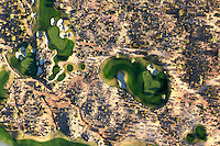 For many years Phoenix Arizona has been the fastest growing city in the USA. Many of the new residents were ritirees that have one thing in comon, a love for Golf playing. The city is surrounded by golfcourses that form interesting green patches in the yellow-red desert landscape.