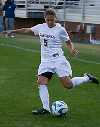 Virginia midfielder/forward Shannon Foley (5)..The Virginia Cavaliers defeated the William and Mary Tribe 1-0 in the second round of the NCAA Women's Soccer tournament held at Klockner Stadium in Charlottesville, VA on November 18, 2007.
