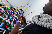 An installation by Tom Lovelace as part of Photo50. London Art Fair opens at the Business Design Centre, Islington, London.