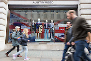 "A sign says ""final days"" as shoppers walk past the Regent Street branch of menswear retailer Austin Reed, which is entering administration and putting 1200 jobs across 200 stores at risk. Westminster, London.<br /> Picture by Paul Davey/Focus Images Ltd +447966 016296<br /> 26/04/2016"
