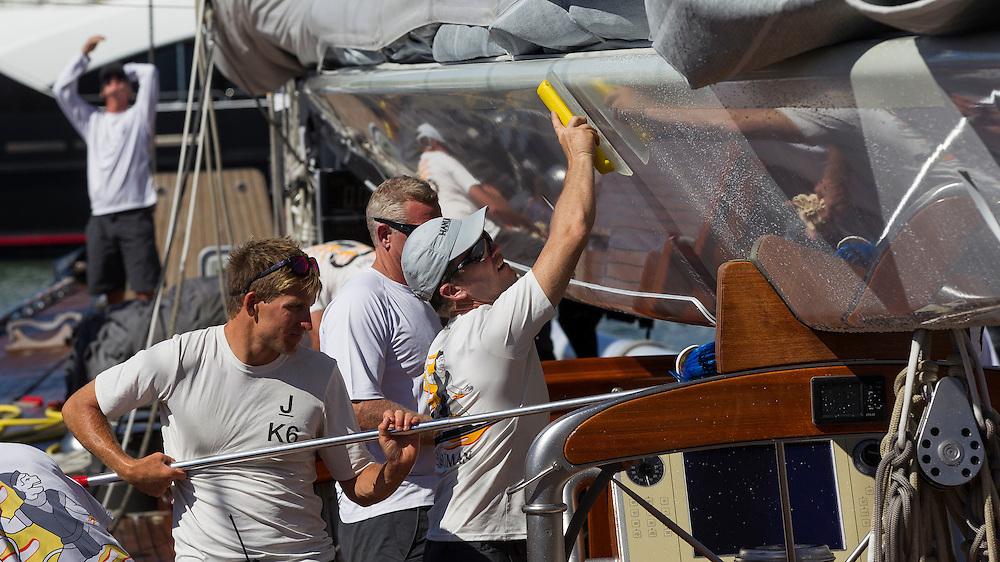 SPAIN, Palma. 19th June 2013. Superyacht Cup. J Class. Hanuman.