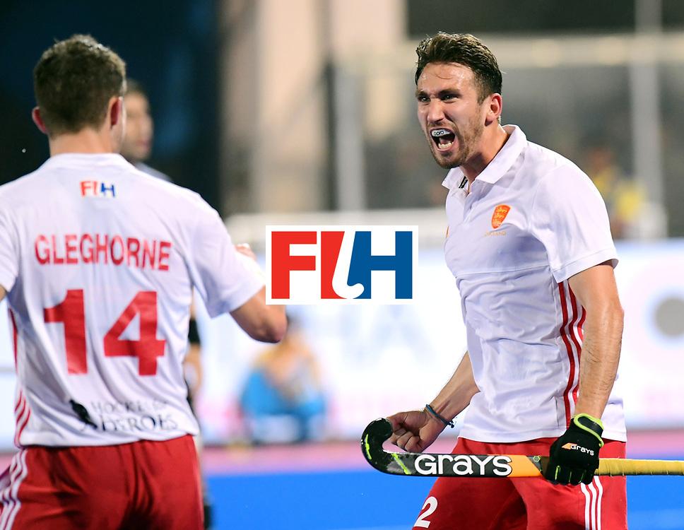 Odisha Men's Hockey World League Final Bhubaneswar 2017<br /> Match id:14<br /> England v Argentina<br /> Foto: David Condon (Eng) scored a goal<br /> COPYRIGHT WORLDSPORTPICS FRANK UIJLENBROEK