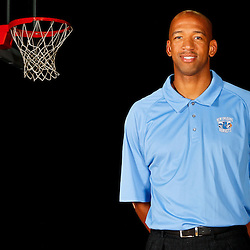 December 14, 2011; New Orleans, LA, USA; New Orleans Hornets head coach Monty Williams poses for a photo during Media Day at the New Orleans Arena.   Mandatory Credit: Derick E. Hingle-US PRESSWIRE