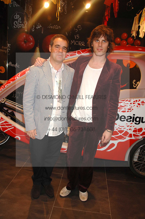 Left to right, MANEL ADELL and JACKSON SCOTT at the launch of the Desigual flagship store at 222 Regent Street, London W1 on 28th June 2007.<br />